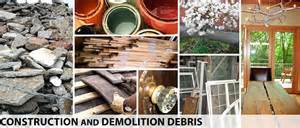 Examples of Construction and Demolition Debris